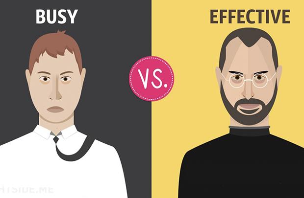 13 khác biệt giữa người bận rộn và người làm việc hiệu quả
